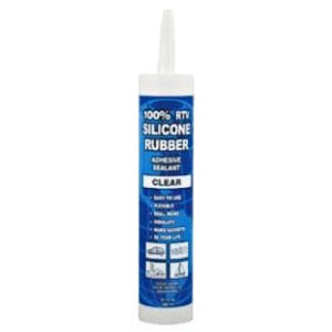 Dottie RTV3 Clear Silicone Sealant, 3oz Tube