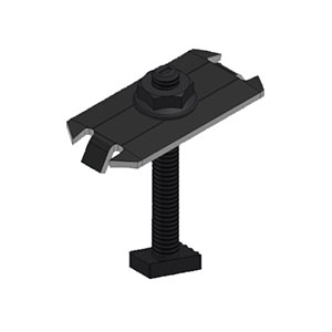 "Unirac 302027D SolarMount Bonding Top-Mount Midclamp, BC DRK SS, Fits 30mm-36mm/1.18""-1.42"" - Black Oxide Coated Stainless Steel"