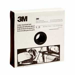 3M 19790 Utility Cloth Roll 314D, 1 in x 50 yd P120 J-weight, 5 per case