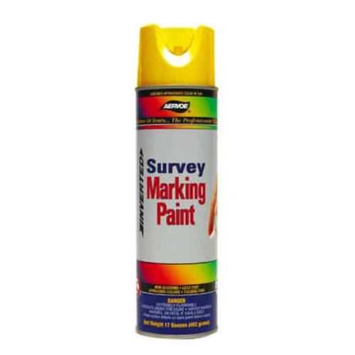 Aervoe 201 Red Survey Marking Paint Aerosol, 20oz (12/Case)