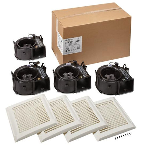 Broan AEN80BF1 Flex™ Series Bathroom Ventilation Fan Finish Pack, 80 CFM, 1.5 Sones