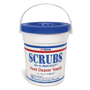Cully 37440 Scrubs-In-A-Bucket Hand Cleaner Towel (72/Bucket)