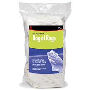 Cully 37580 1lb Bag of Rags (New Bleached Knits)