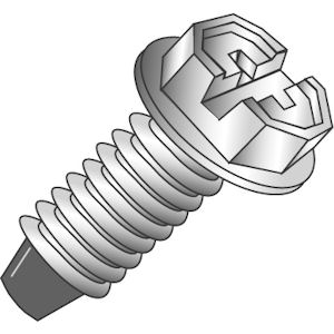 Cully 80006J Green Grounding Screw - Zinc (100/Jar)