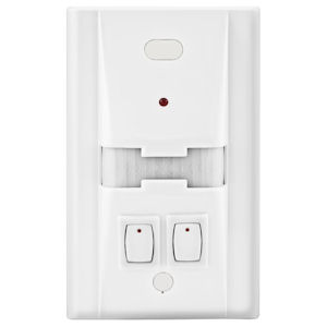 Hubbell WS1277W2 Passive Infrared Wall Switch Occupancy Sensor, Double Pole - White