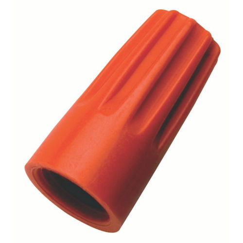 Ideal 30-073 Orange Wire-Nut® (73B), #22 to #14 AWG / 600v (100/Box)