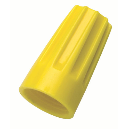 Ideal 30-074J Yellow Wire-Nut® (74B), #18 to #12 AWG / 600v (175/Jar, 1050/Case)