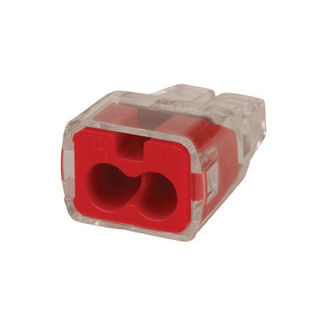 Ideal 30-1032J Red 2-Port Push-In Wire Connector (Jar of 300)