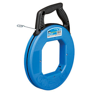 "Ideal 31-056 Tuff-Grip™ Pro Blued-Steel™ Fish Tape w/ Formed Hook End, 120' x 1/8"" x .060"""
