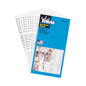 Ideal 44-104 Wire Marker Booklets - Legend 46-90 (10 each)
