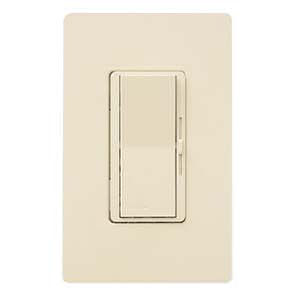 Lutron DV-600P-IV Single Pole 600W Incandescent DIVA Dimmer - Ivory