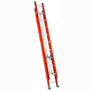 Louisville Ladder FE3220 20ft Fiberglass Extension Ladder, 300lb Load Capacity