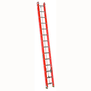 Louisville Ladder FE3228 28ft Fiberglass Extension Ladder, 300lb Load Capacity