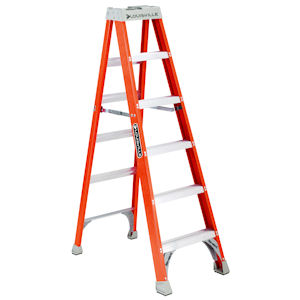 Louisville Ladder FS1506 6ft Fiberglass Step Ladder, 300lb Load Capacity