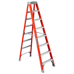 Louisville Ladder FS1510 10ft Fiberglass Step Ladder, 300lb Load Capacity