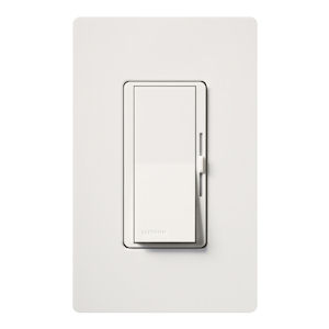 Lutron DVLV-603P-WH 3-way 450W Magnetic Low-Voltage DIVA Dimmer - White