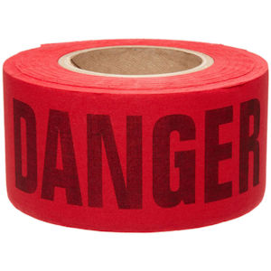 Empire 71-1004 Economy Grade Red 'DANGER' Barricade Tape, 1000ft