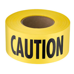 Empire 71-1001 Economy Grade Yellow 'CAUTION' Barricade Tape, 1000' Roll