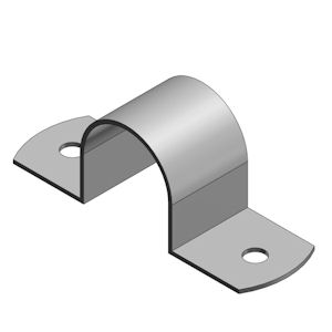 "Steel City HS-905 1-1/2"" Rigid/IMC Two-Hole Conduit Strap - Steel/Zinc Plated"
